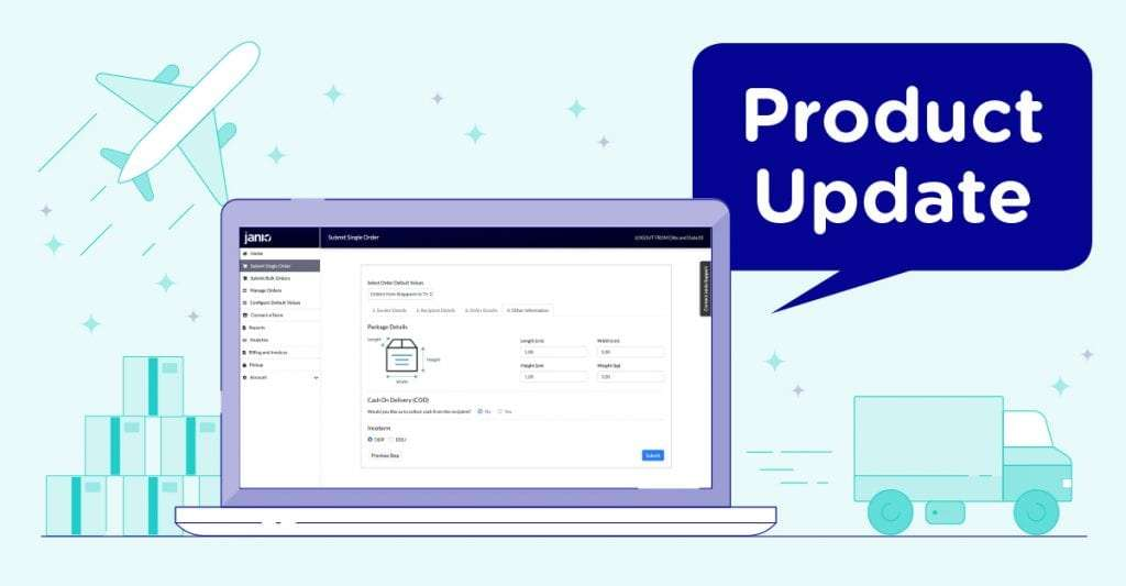 Janio product update order system