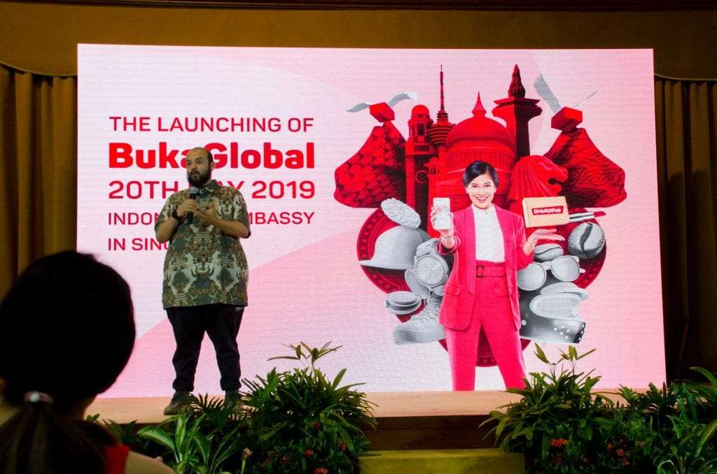 Janio's Cofounder speaking at Bukalapak's Bukaglobal launch