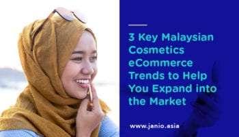 Malay lady applying lipstick - key visual cosmetics ecommerce trends malaysia janio