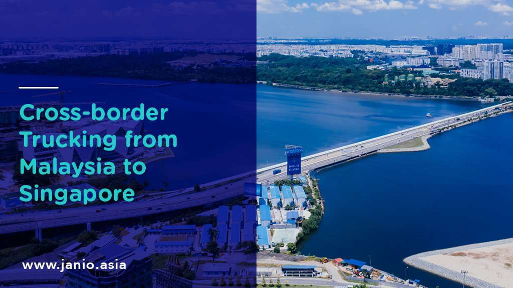 View of the causeway between Singapore and Malaysia