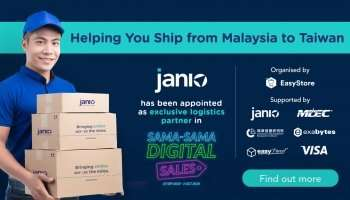 Janio helps Malaysian sellers ship from Malaysia to Taiwan through Sama-Sama Digital collaboration