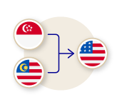Ship from Singapore and Malaysia to the United States