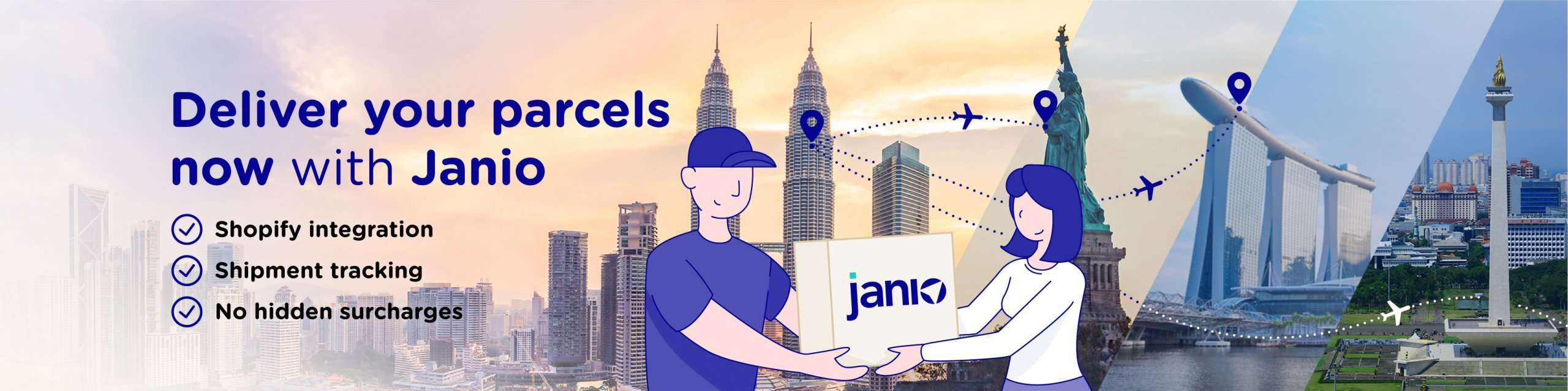 Deliver parcels with Janio
