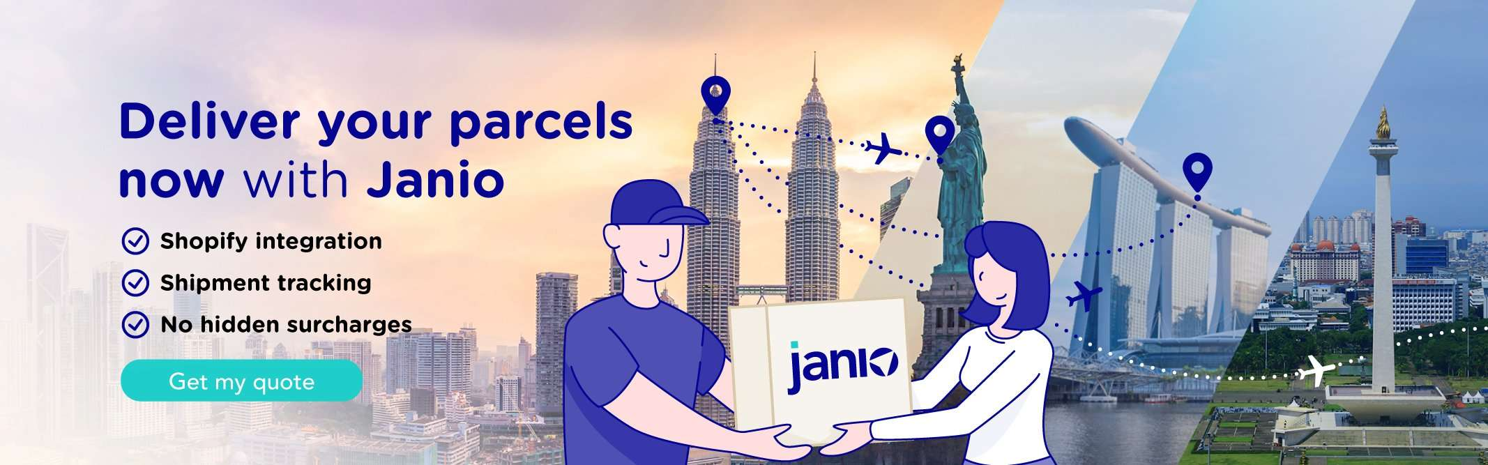 Start shipping with Janio